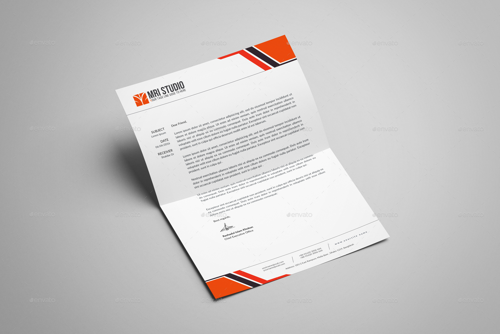 letterhead design template by mrikhokon graphicriver