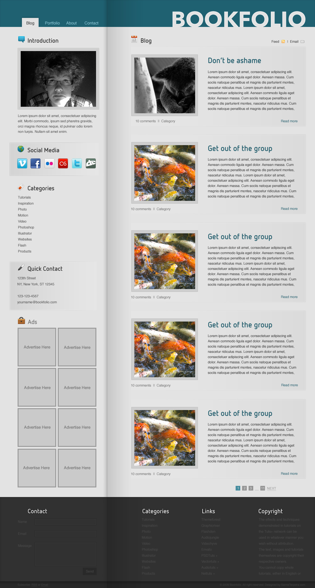 Free Download BookFolio - Blog / Personal site Nulled Latest Version