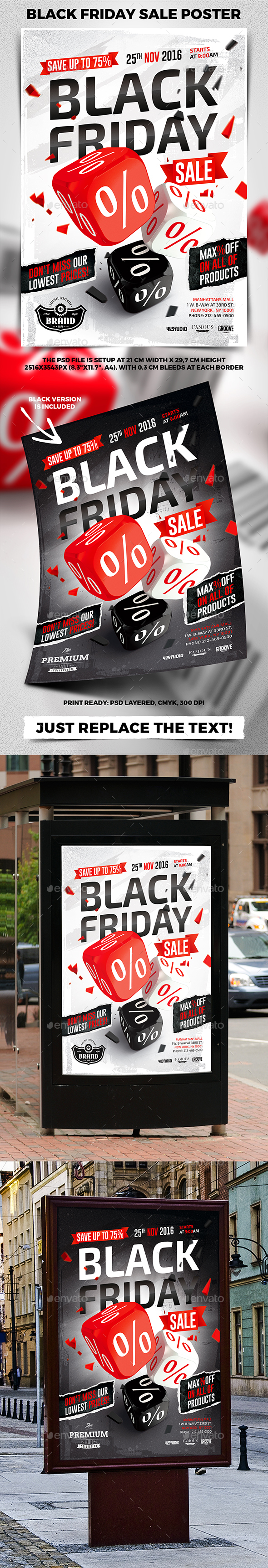 Black Friday Sale Poster - Commerce Flyers