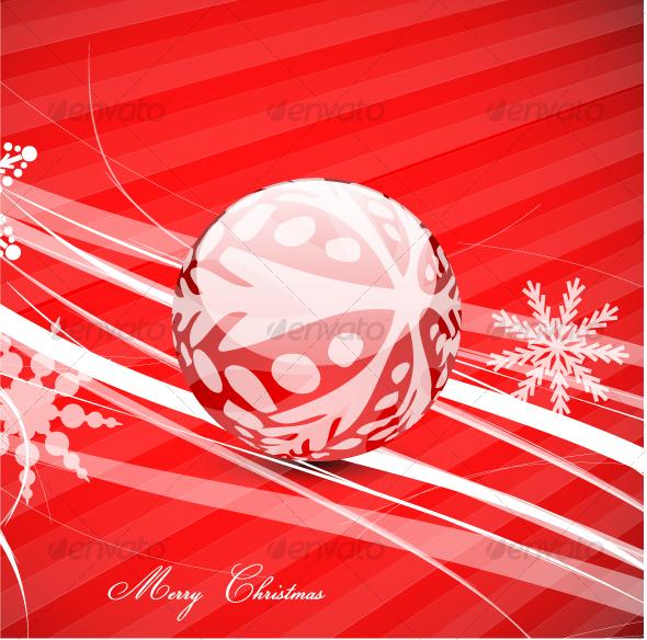 Christmas ball on a surface - Christmas Seasons/Holidays