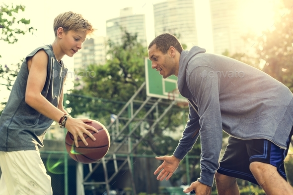 Basketball Athlete Sport Skill Playing Exercise Concept - Stock Photo - Images