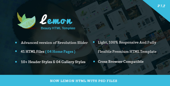 Lemon - Spa and Beauty Responsive HTML5 Template - Health & Beauty Retail