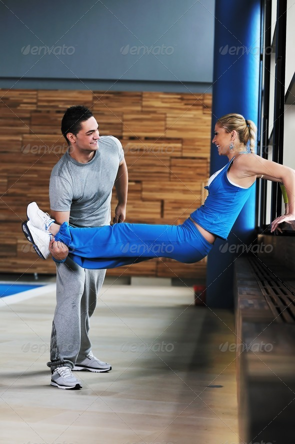 fitness personal trainer - Stock Photo - Images
