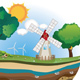 Windmill on Island - GraphicRiver Item for Sale