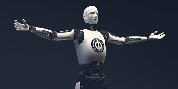 Humanoid robot - 3DOcean Item for Sale