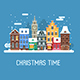 Europe City Christmas Street - GraphicRiver Item for Sale