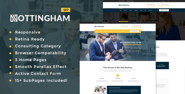Nottingham : Business, Finance and Consultancy WordPress Theme - Business Corporate