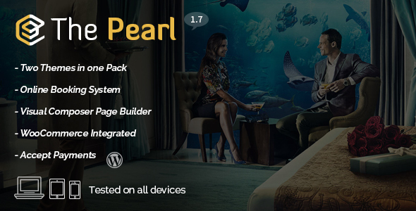 Hotel & Restaurant WordPress Theme – Pearl