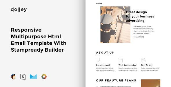Dolly – Responsive  Multipurpose Email Template + Stampready Builder
