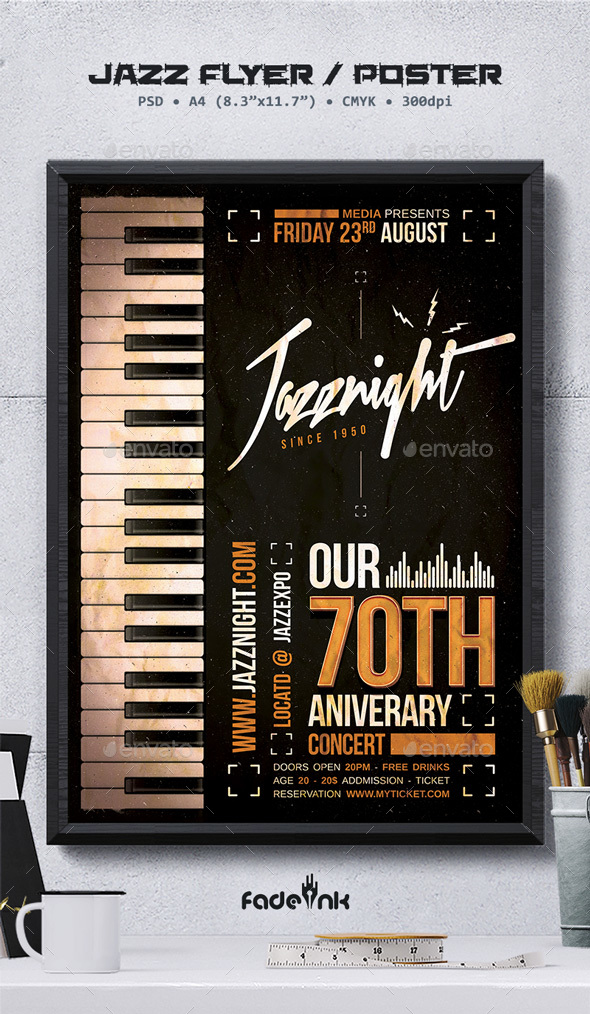Jazz Flyer / Poster Template by Fadeink | GraphicRiver