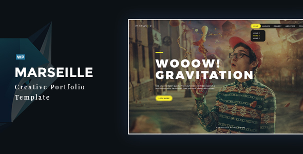 Marseille - Creative Photography WordPress Theme