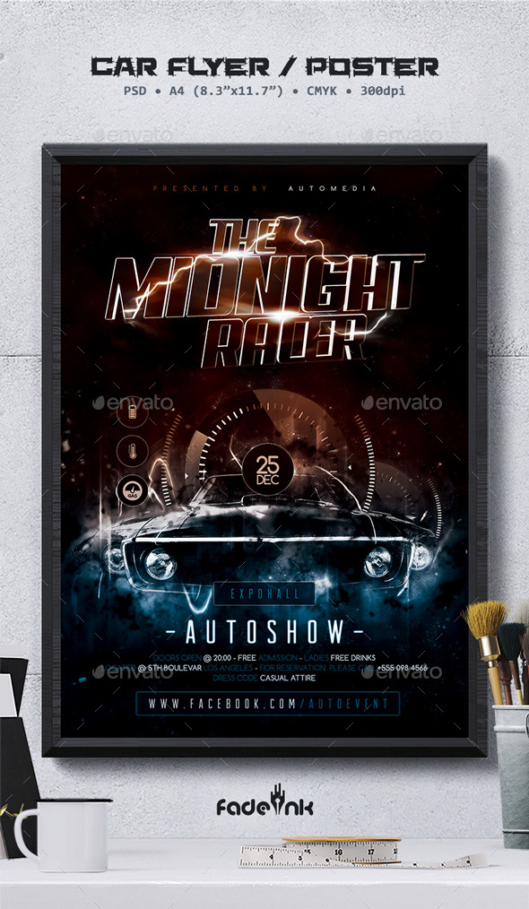 Car Show Flyer / Poster Template - Miscellaneous Events