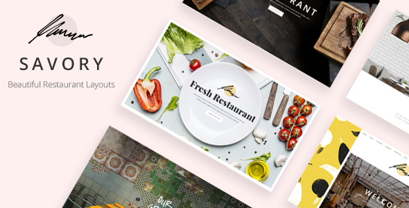 Savory - A Beautiful Restaurant WordPress Theme