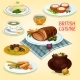 British Cuisine Traditional Dishes For Lunch Icon