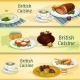 British Cuisine Traditional Dishes For Menu Design