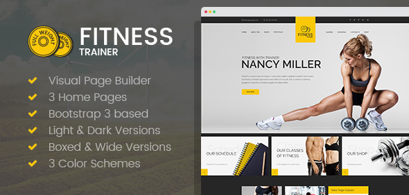 Sport Trainer – Boxing, Yoga and Crossfit Trainer HTML template with Builder