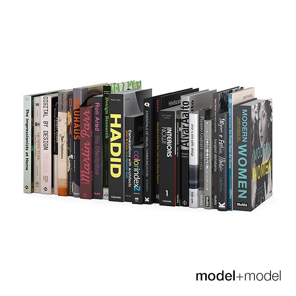 Dark design books - 3DOcean Item for Sale