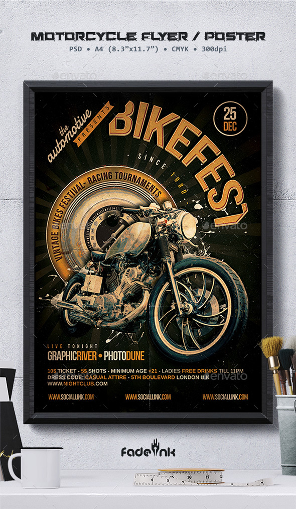 Bikefest Flyer Template - Clubs & Parties Events