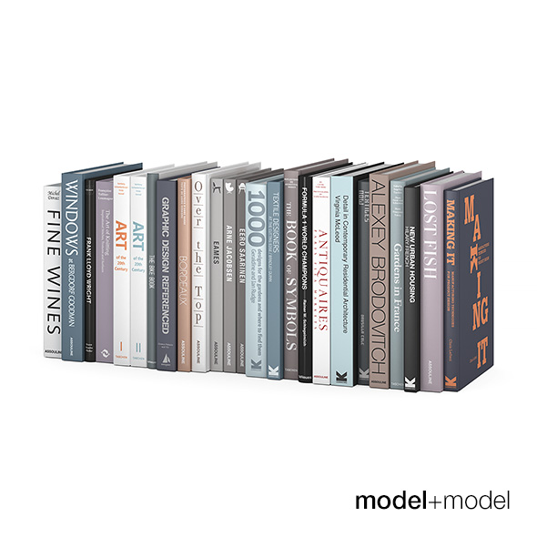 Customizable design books - 3DOcean Item for Sale