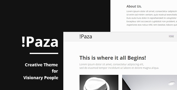 Paza – Creative Portfolio Theme