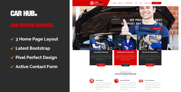 Car Hub || Auto Mechanic & Car Repair Template - Business Corporate