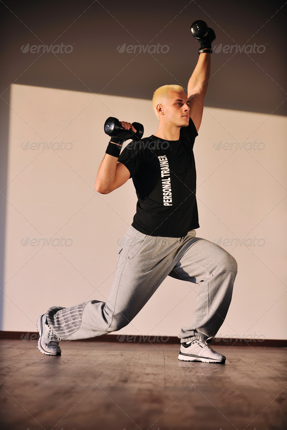 personal trainer man - Stock Photo - Images