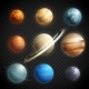 Planets Realistic Transparent Set - GraphicRiver Item for Sale