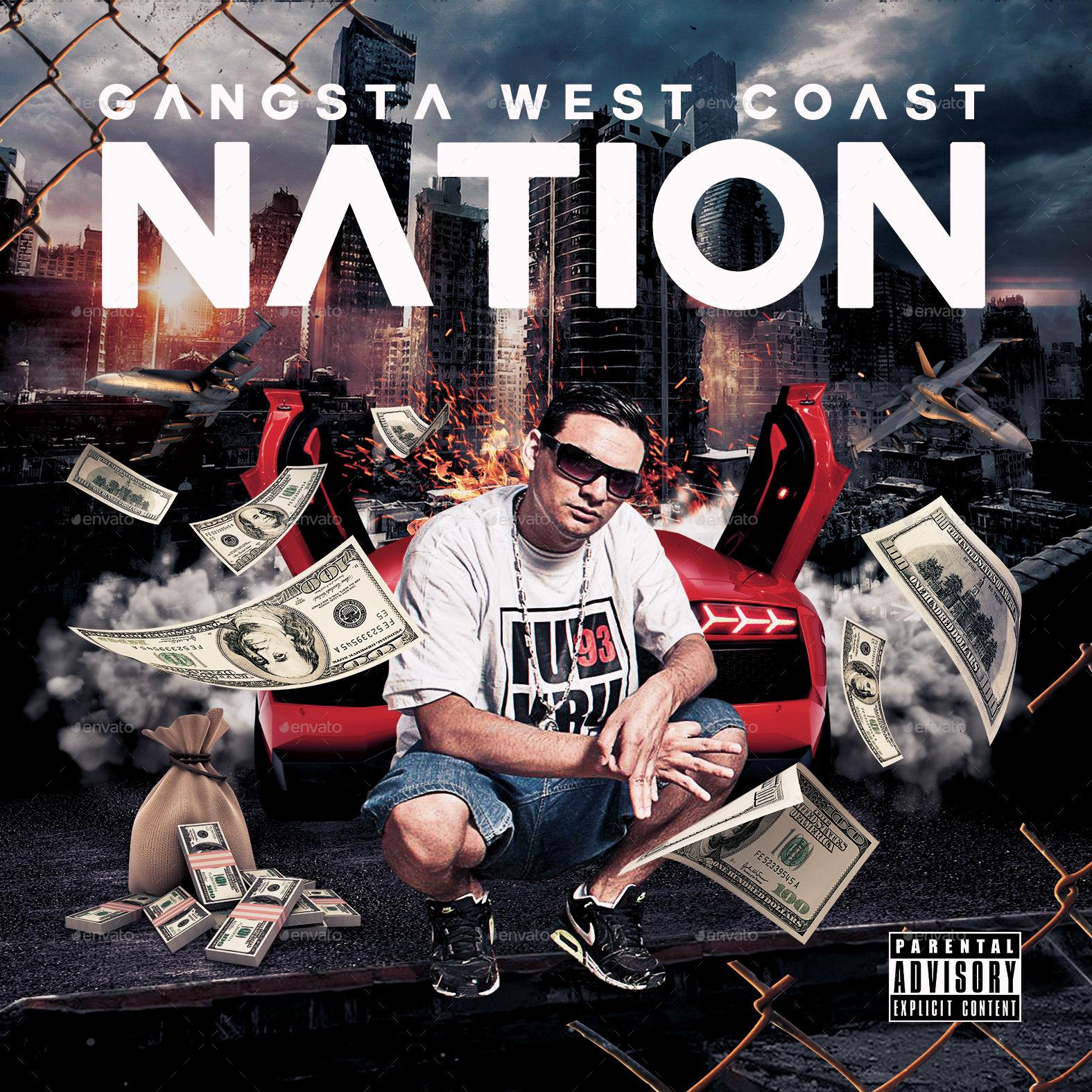 Wg West Coast Font: Gangsta West Coast CD Cover By Hartmanns