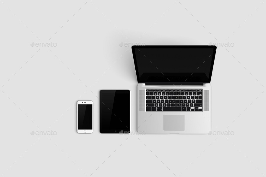 multi devices responsive website mockupgraphiccrew | graphicriver, Powerpoint templates