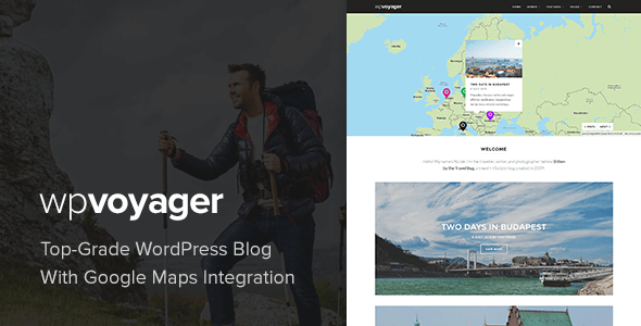 WPVoyager - Travel Blog WordPress Theme - Personal Blog / Magazine