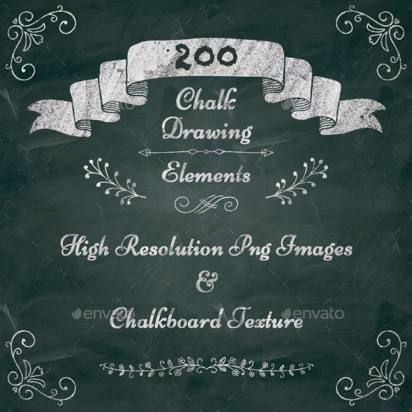 200 High Resolution PNG Elements - Objects Illustrations