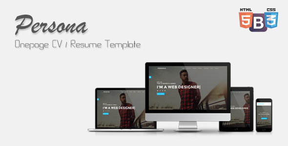 Persona – Onepage CV/Resume Template