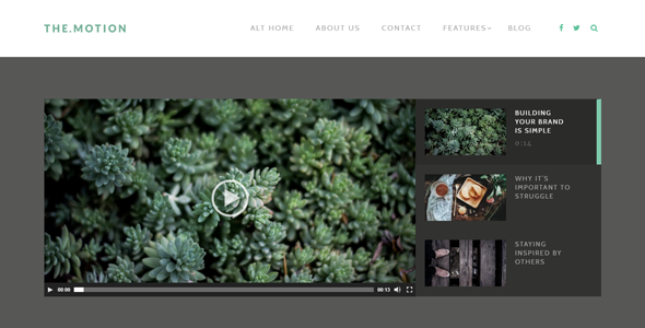 TheMotion – Video Blogging WordPress Theme