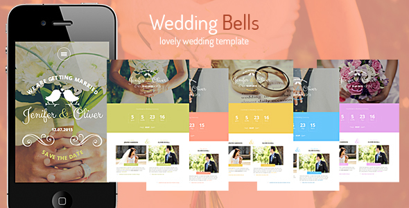 Wedding Bells - Responsive Wedding Template - Wedding Site Templates