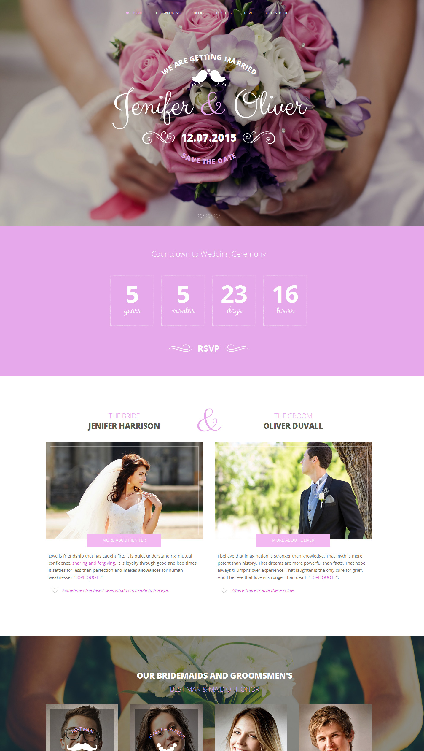 wedding bells responsive wedding template
