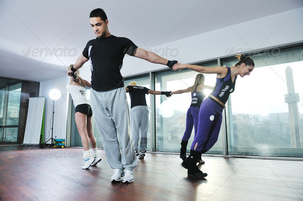 fitness group - Stock Photo - Images