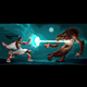Fighting Scene Between Elf and Werewolf - GraphicRiver Item for Sale