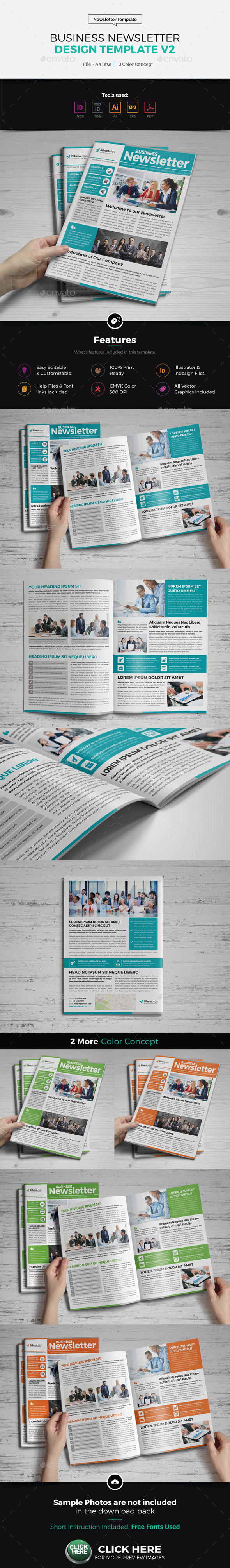 Newsletter Design Template v2 - Newsletters Print Templates