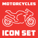 Motorcycle Icon Set - GraphicRiver Item for Sale