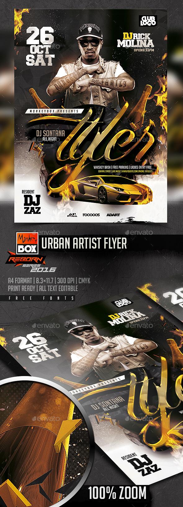 Urban Artist Flyer