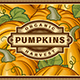 Retro Pumpkin Harvest Label - GraphicRiver Item for Sale