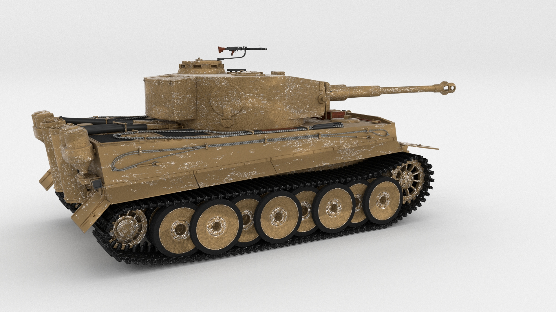 Panzer Tiger Tank Early with interior