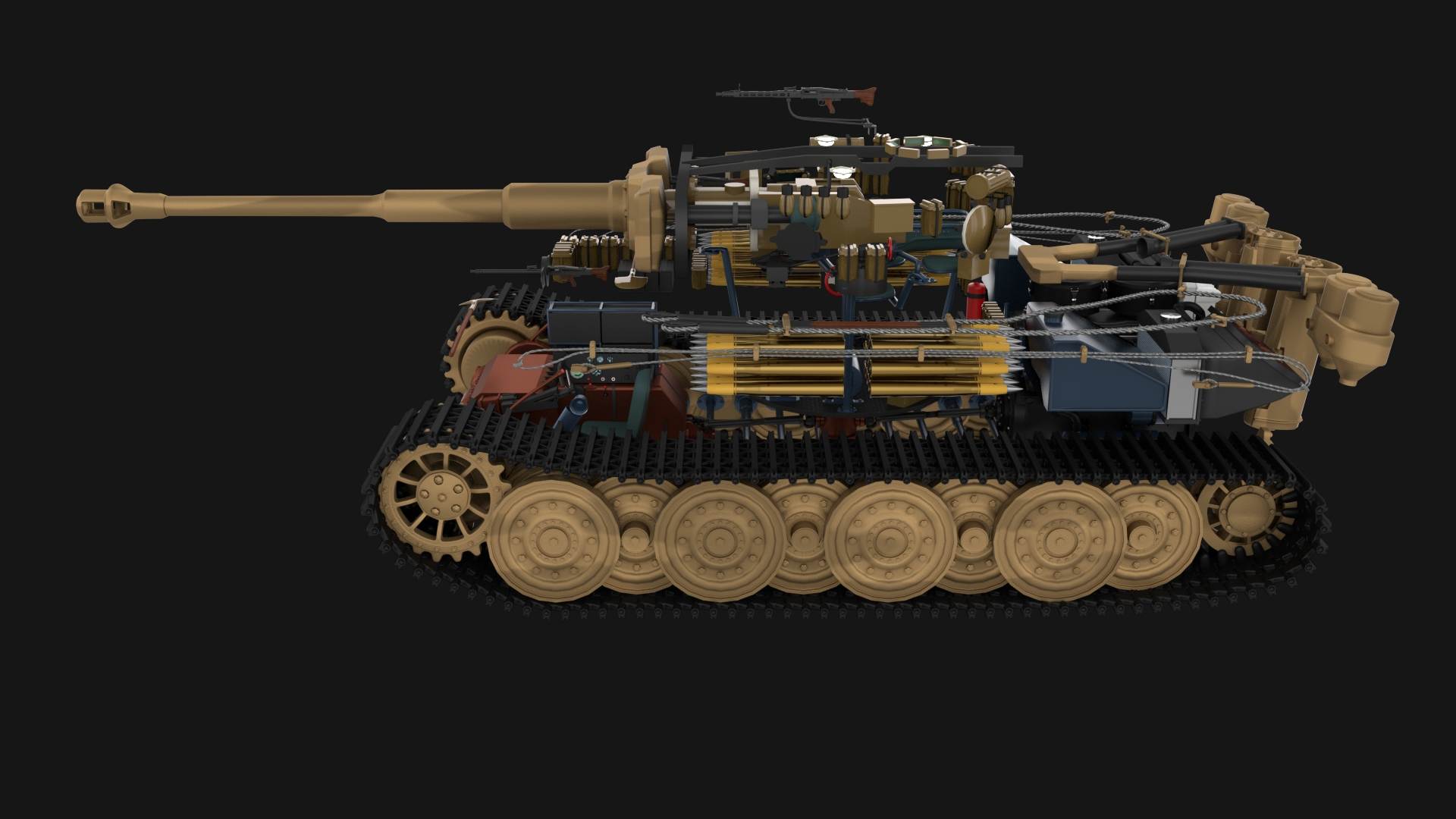Panzer Tiger Tank Early With Interior By Dragosburian