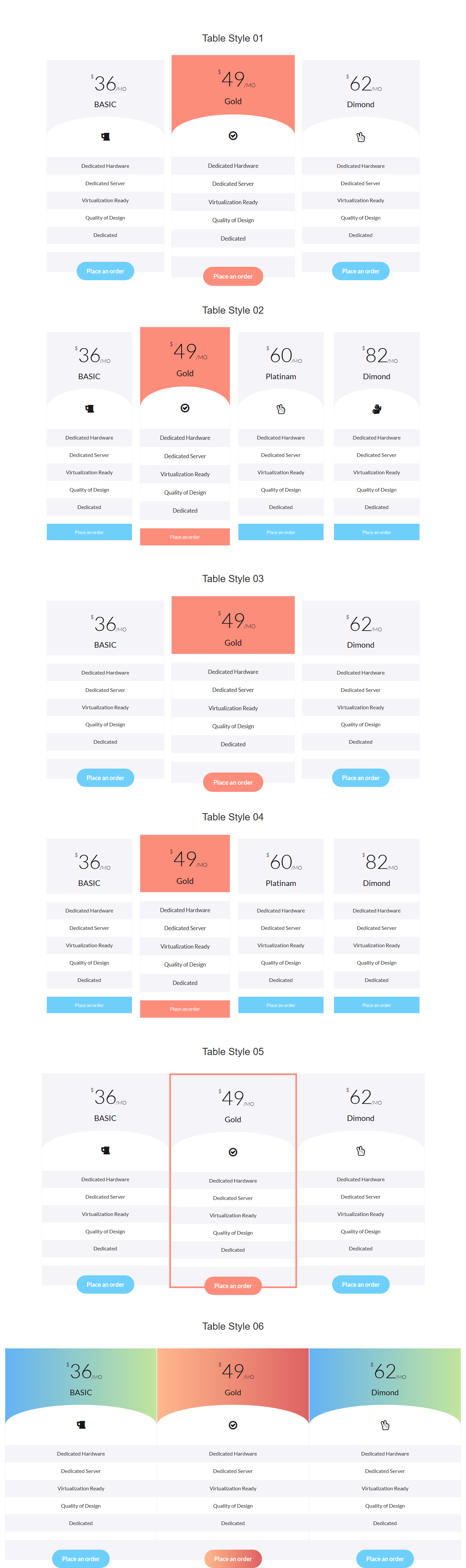 Atelier responsive bootstrap pricing table by for Bootstrap table design