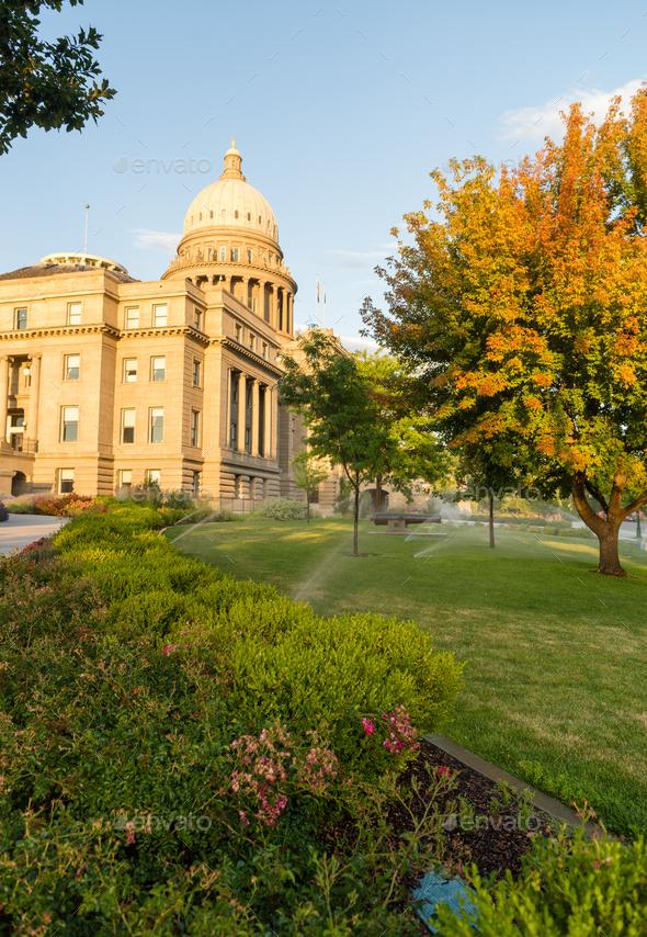 Boise Idaho Capital City Downtown Capitol Building Legislative C - Stock Photo - Images
