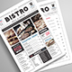 Newspaper Style Food Menu - GraphicRiver Item for Sale