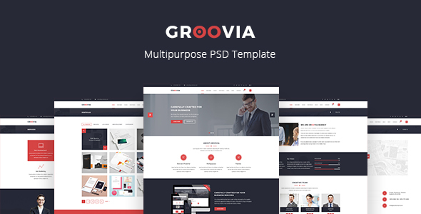 Groovia - Multipurpose PSD Template - Corporate PSD Templates