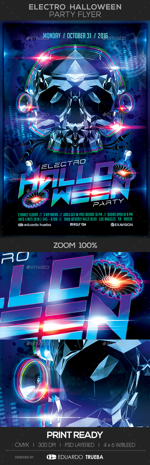 Electro Halloween Party Flyer