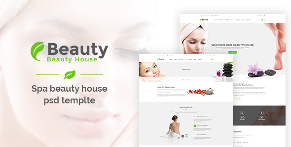 Beautyhouse – Health & Beauty PSD Template