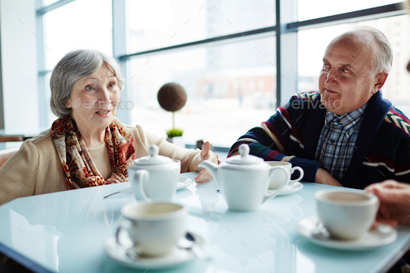 Seniors at leisure - Stock Photo - Images